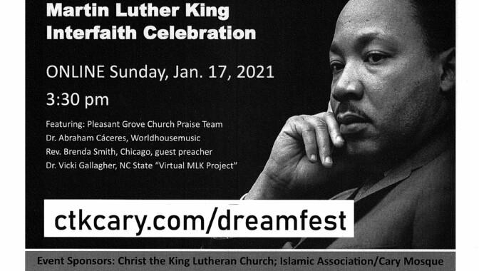 MLK, Jr. interfaith celebration, Cary, NC